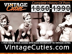 Erotic Dance of Old-school Hotties 1950s Vintage