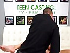 Real teen hardfucked while gagging at casting