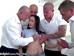 Bratty Daughter DP woops video by Dad and All His Friends!