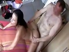 mature couple enjoying a good uncle hug me session