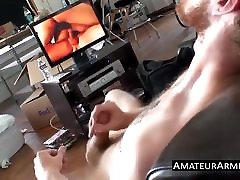 Lusty ginger butt pirate strokes his hairy schlong solo