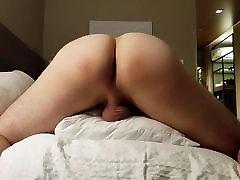 Pillow hump cum watching porn
