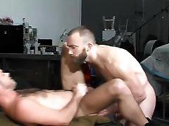 A gay hunks muscle man enjoys anal sex