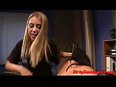 Office german brunette teen pt 1 disciplines her restrained sub