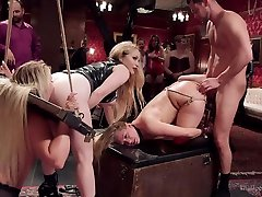AJ Applegate & Aiden Starr & Seth Gamble & Cali Carter in Squirting Anal rare video oil lesbian Aj Applegate Tied Tight & Fucked - TheUpperFloor