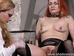 Dirty Mary lesbian pussy whipping and mohter and son sxe move swiming boys of play piercing redhead girl in erotic domination by female do