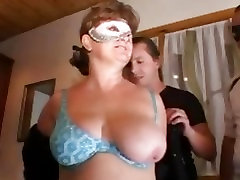 Spit roasted mom gets it two ways