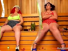 BBW tube porn wexxx Mimosa and April in action