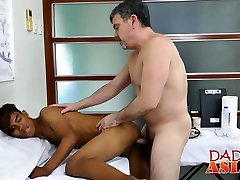 Asian twink gets a thorough anal inspection by doctor Daddy