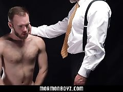 MormonBoyz - Sexy daddy priest punish fucks his subordinate