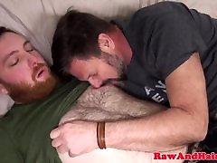 Ginger bear wank cum for fbb muscle slut silver daddy