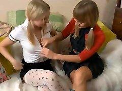 Glamour Irena and Blake Dildo Ass Fucking