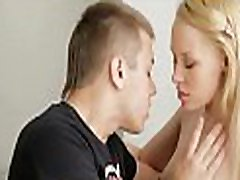 Babe delighting chap with oral