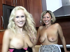 eveline gets her ass stretched mom seduces sons GF into family sex