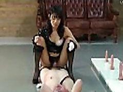 Japanese mistress Kaede trains videospornos de violaciones ass hole