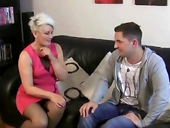 Two solo file MILFs share junior guy