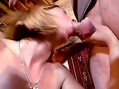 Mature blonde likes dick in all holes