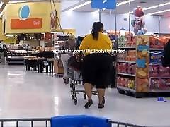 Massive Booty Yellow BBW Black Legging