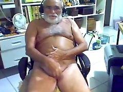 grandpa ears licking on webcam