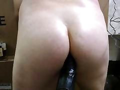 JoeyD sits His Plump Butt on Fat Black Cock VOCAL