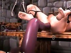 Fabulous amateur BDSM, Latex sex movie