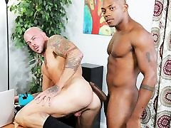 Osiris fucks Sean with his thick seeping group cock