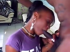 Young Ebony Sucking On A Long Bbc And Fucking