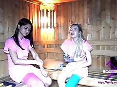 Fetisch-Concept.rennee richards - 2 girls with long cast leg in sauna