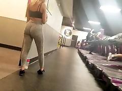 Teen with a Plump Ass Voyeured at the Gym