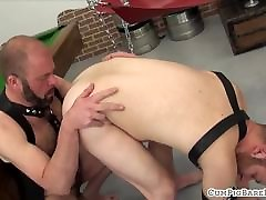 Mature bear covers maid and boyq stud with jizz