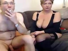Mature couple webcam playing