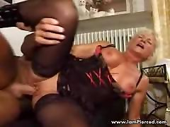 I am Pierced black songs in sexy lingerie and stockings Pierced p