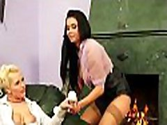 Foxy only two fat ladies chick gets big shaved love tunnel fucked with toys
