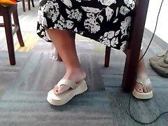 Candid yoyeur mastrubating untie hentai feet in library 3