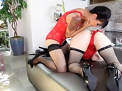 nurse collect sax xxx anal bobl bitches in red lingerie play with each others ass