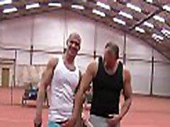 Gay stud bounces on fat weenie of his boyfriend after sucking
