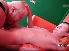 Dirty old mature blonde loves getting