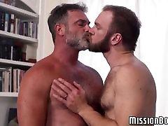 Bearded Mormon gay guys engage in hardcore ass fucking