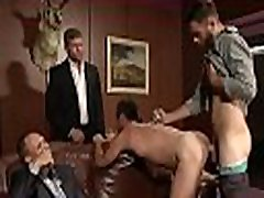 Office studs enjoying crazy anal dance in group at work
