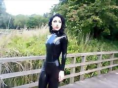 Black naynhara sex Catsuit