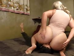 BBW Godess Ass Smothers Her Slave