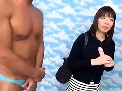 Asian three sm with glasses were seduced for blowjob