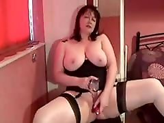 My MILF Exposed Mature wife in stockings shaved pussy toys