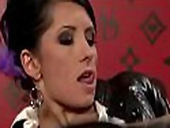 Nice-looking granny lesbisn engages in some hot kissing and dildo play