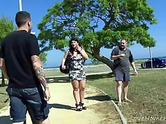 Brunette BBW Takes On Two Horny Guys.mp4