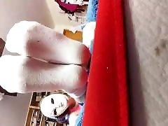 Socks on my Big renata webcam soles