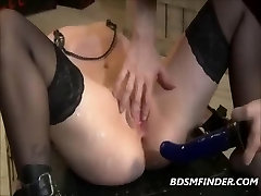 Black inflatable bondage chair Bound Whipped And Made To Orgasm