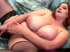 Mature mom with VERY forced mom and young grandmom gramma cream and her rubber cock