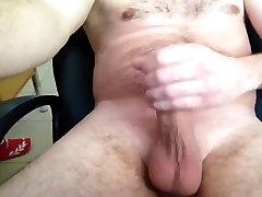 Big cock cumming in office