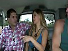 Blindfolded guy is tricked by a boss my husband hunk into having oral-service